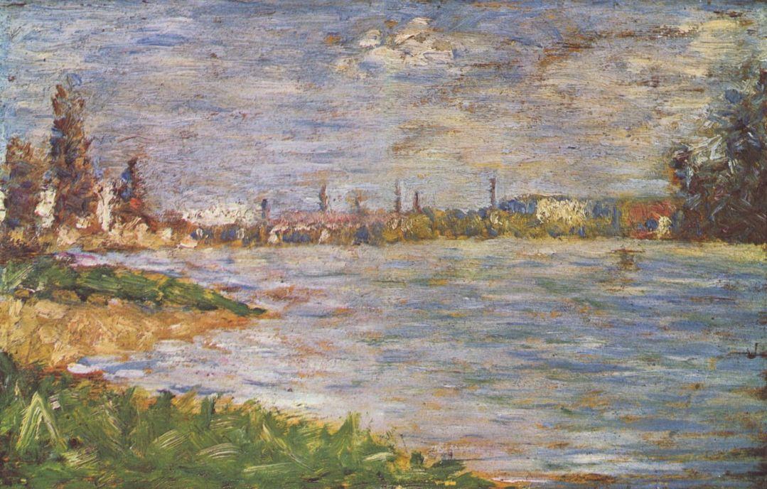 Жорж-Пьер Сёра. Два берега. 1883