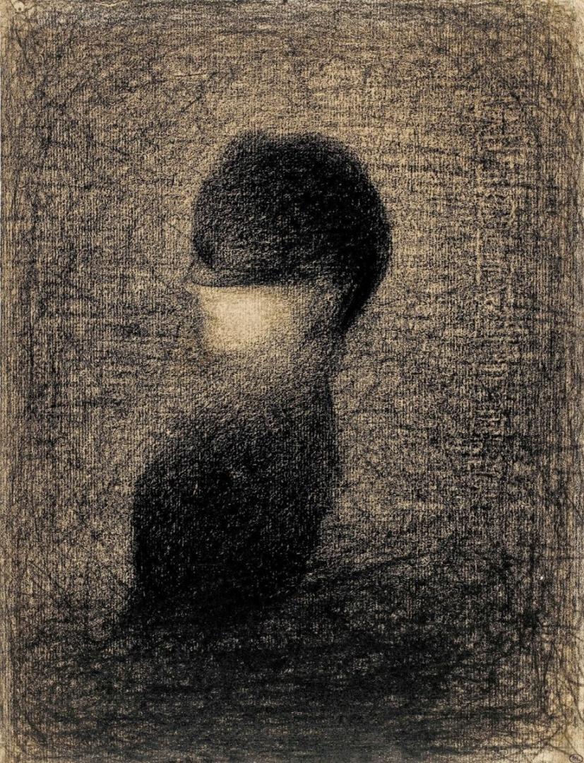 Жорж-Пьер Сёра. Вуаль. 1883
