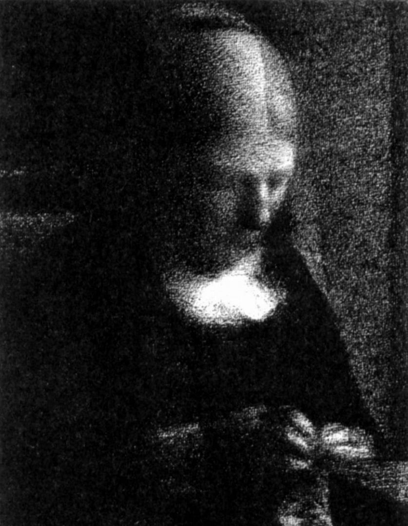 Жорж-Пьер Сёра. За шитьем. 1883