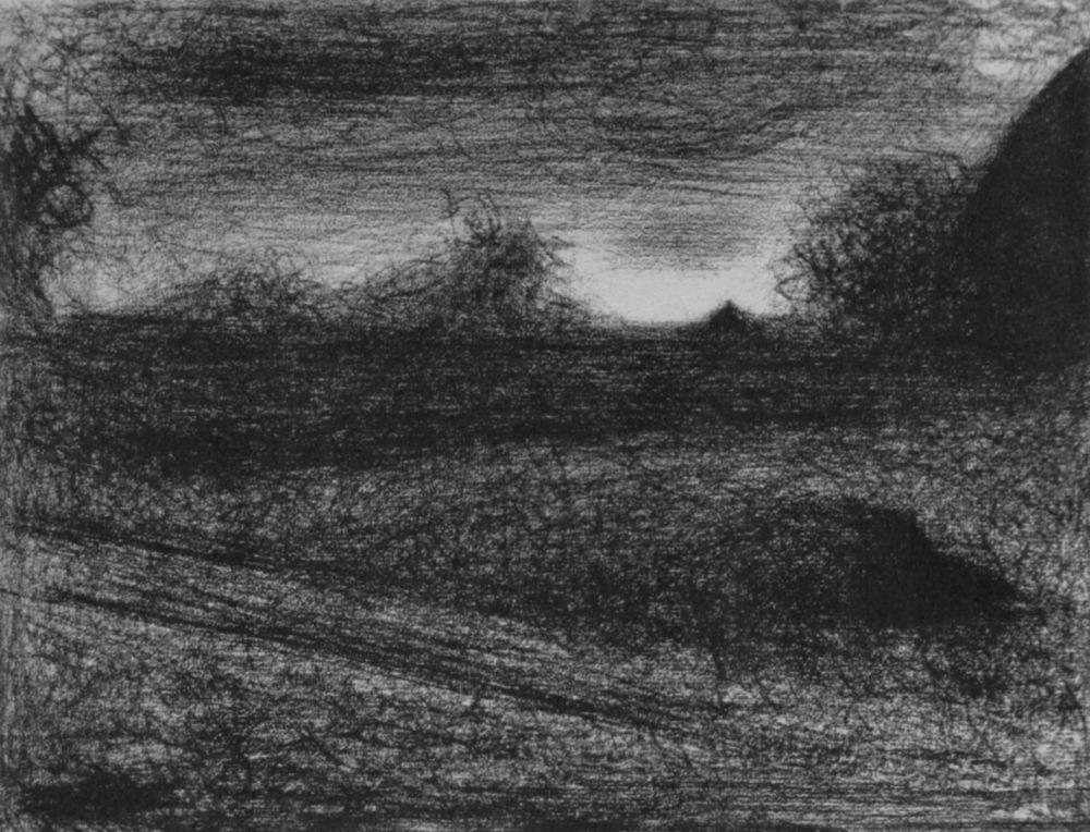 Жорж-Пьер Сёра. Копны сена. 1883