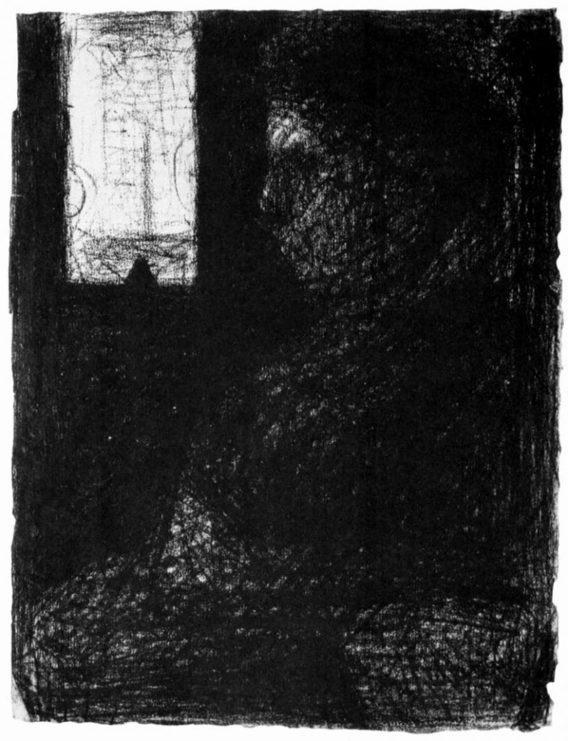 Жорж-Пьер Сёра. Женщина в вагоне. 1883