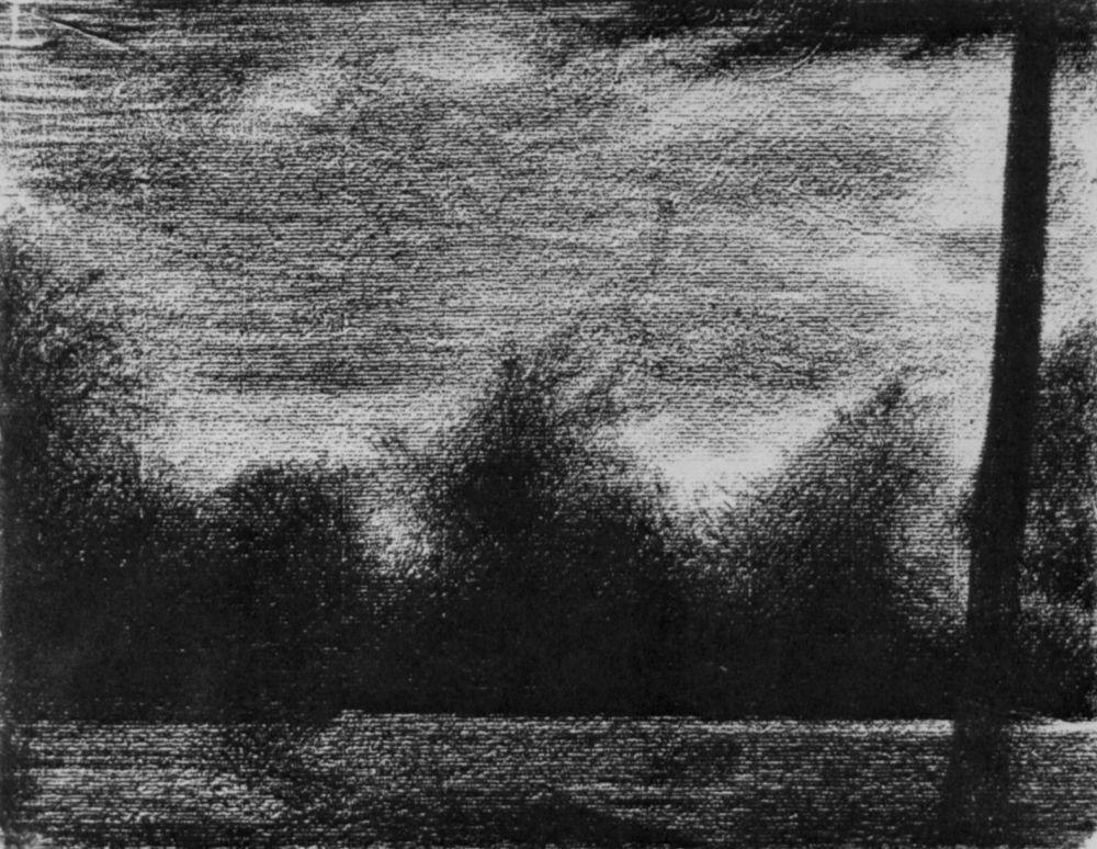 Жорж-Пьер Сёра. Опушка леса. 1883