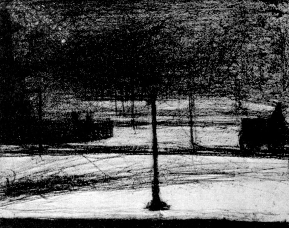 Жорж-Пьер Сёра. Площадь Согласия зимой. 1883