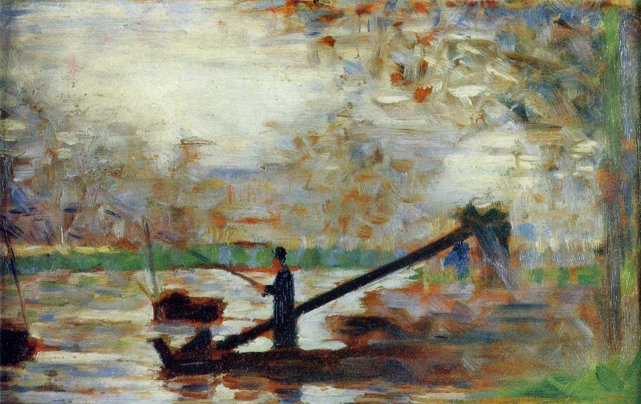 Жорж-Пьер Сёра. Рыбак. 1883