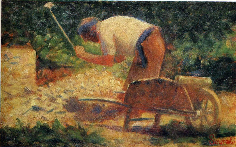 Жорж-Пьер Сёра. Работник. 1883