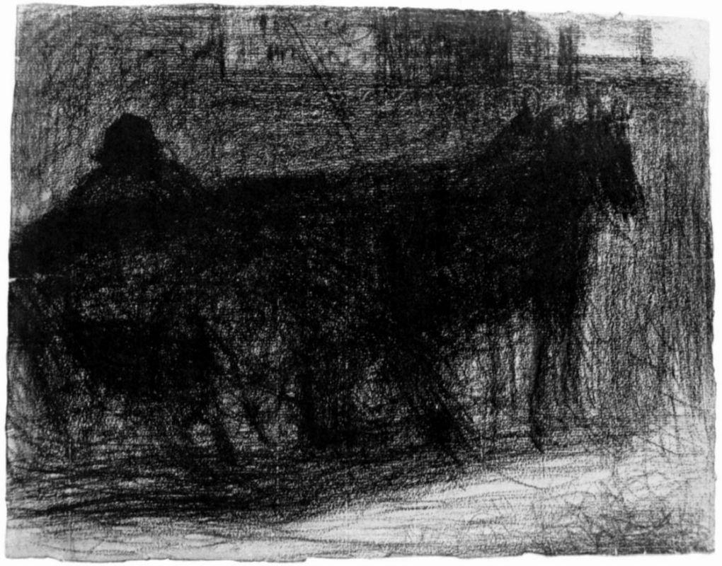 Жорж-Пьер Сёра. Упряжка парой. 1883
