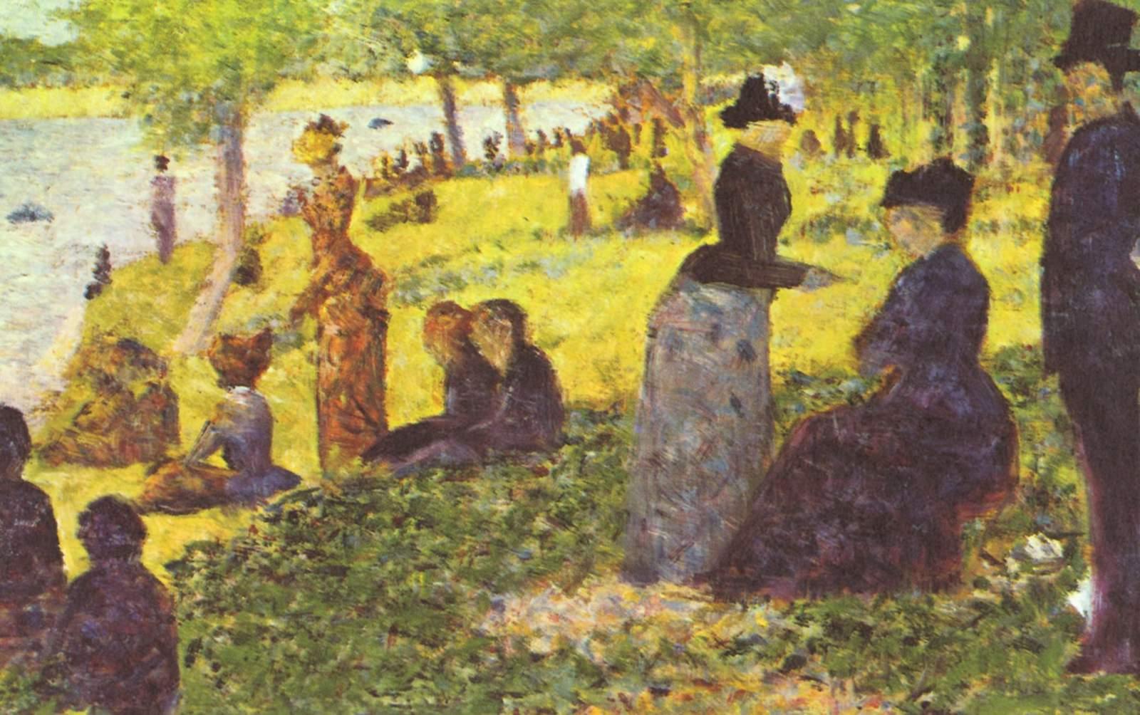Жорж-Пьер Сёра. Воскресная прогулка на острове Гранд-Жатт. 1884