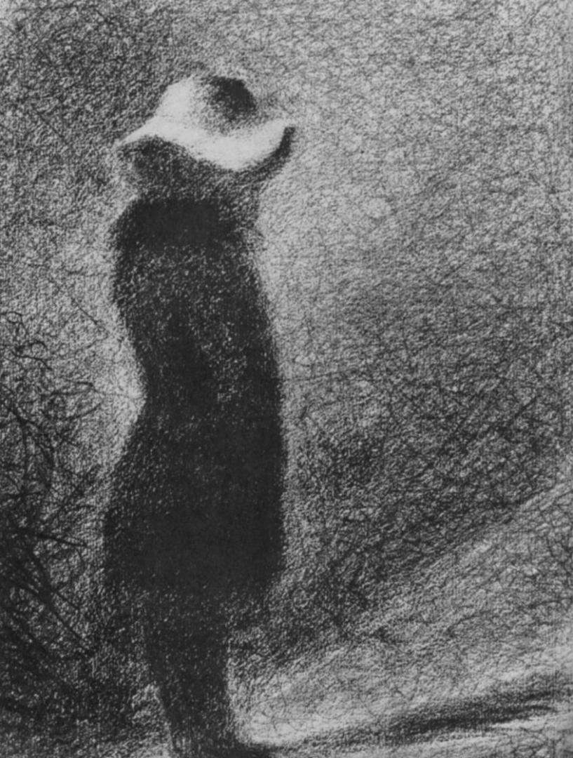 Жорж-Пьер Сёра. Девочка в шляпке. 1884