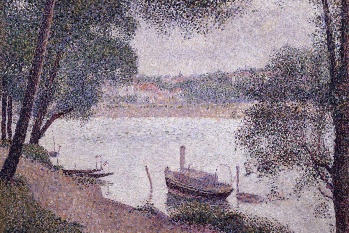 Жорж-Пьер Сёра. Пейзаж с лодкой. 1884