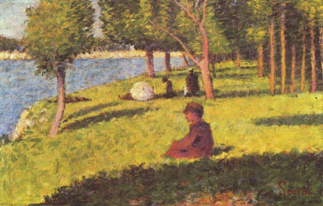 Жорж-Пьер Сёра. Сидящие фигуры. 1884