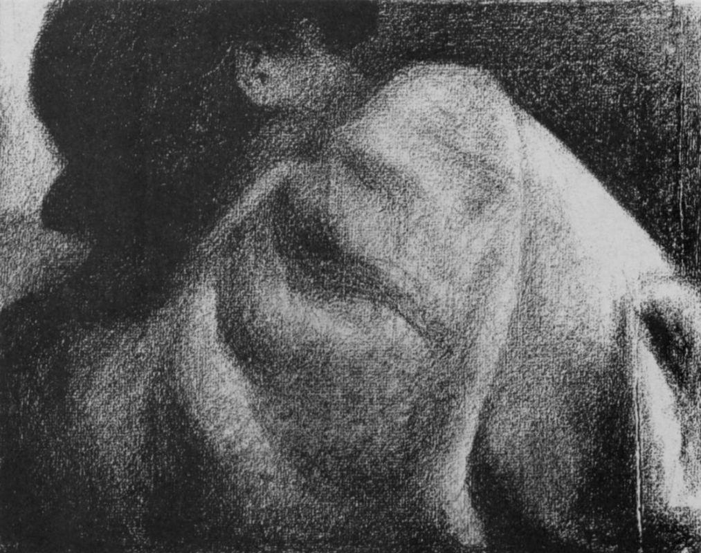 Жорж-Пьер Сёра. Спящий. 1884