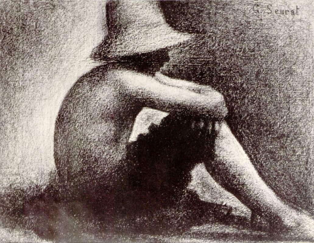 Жорж-Пьер Сёра. Этюд к картине Купальщики. 1884