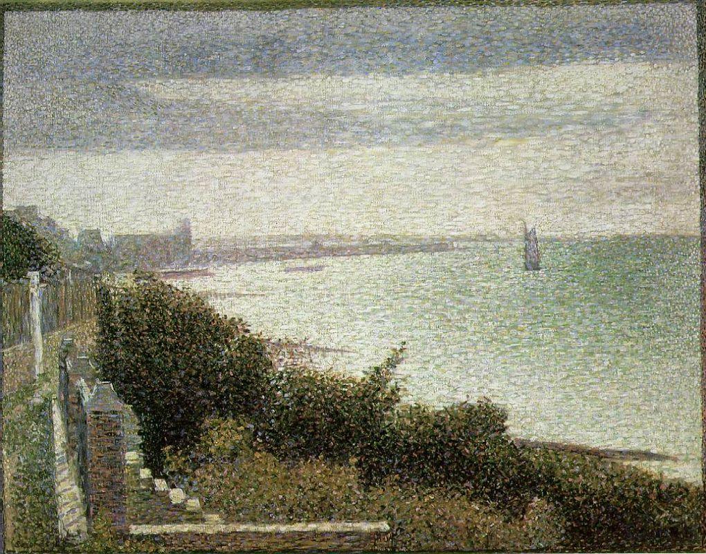 Жорж-Пьер Сёра. Гранкан, вечер. 1885