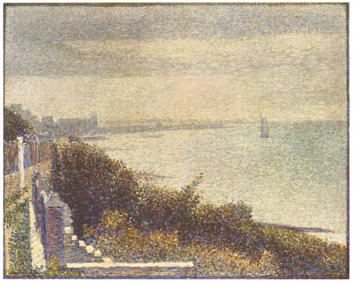 Жорж-Пьер Сёра. Вечер в Гранкане . 1885
