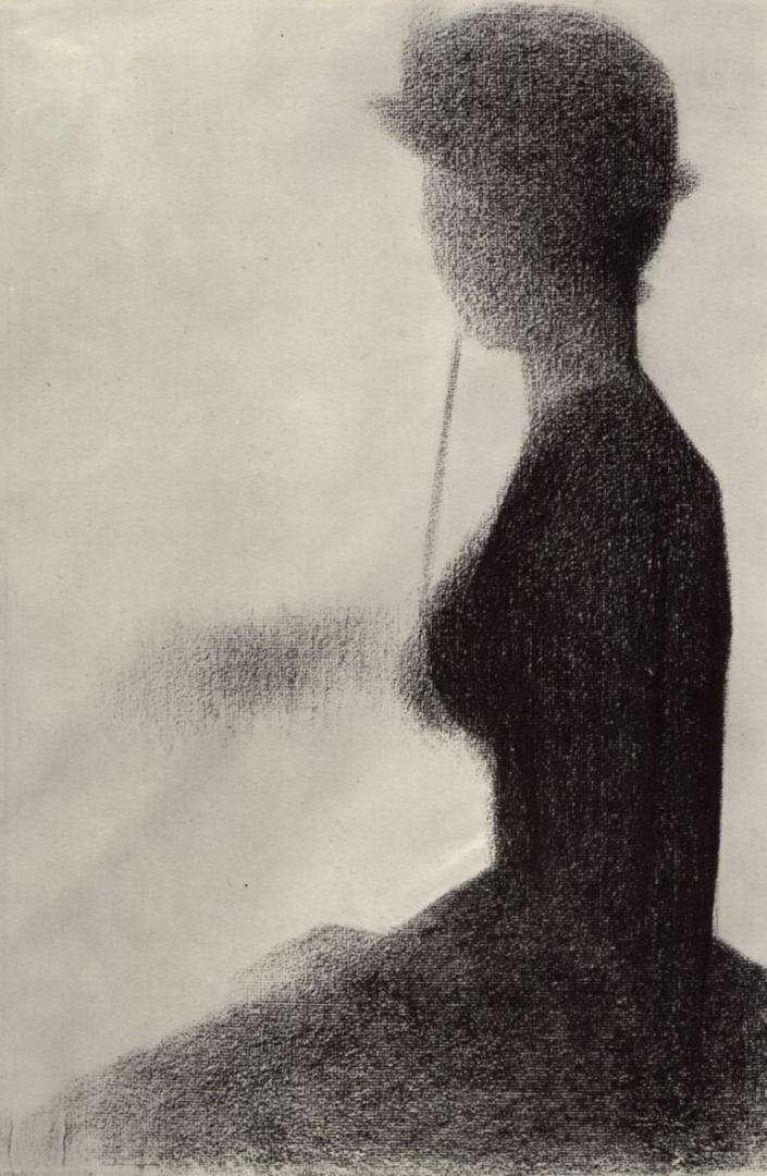 Жорж-Пьер Сёра. Сидящая женщина с зонтиком. 1885