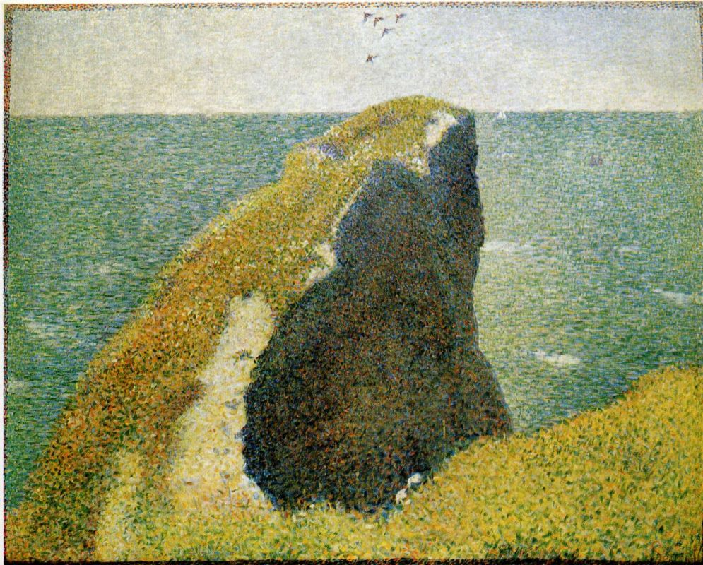 Жорж-Пьер Сёра. Утес. 1885