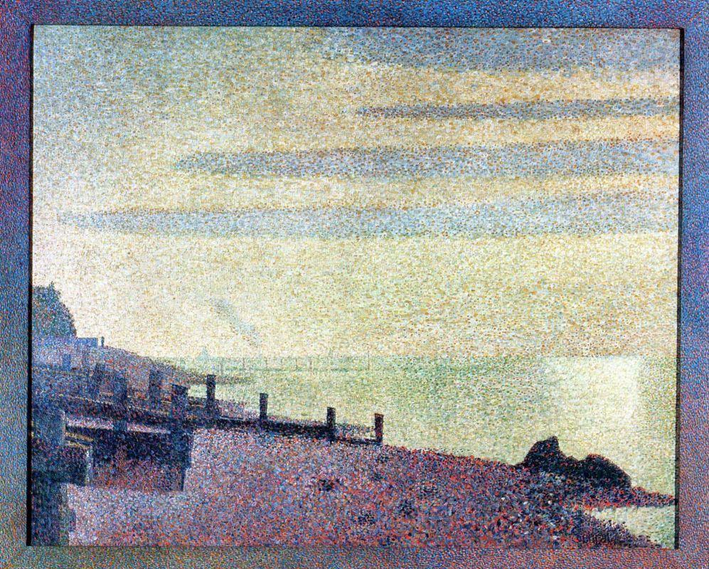 Жорж-Пьер Сёра. Вечер в устье Сены близ Онфлёра. 1886