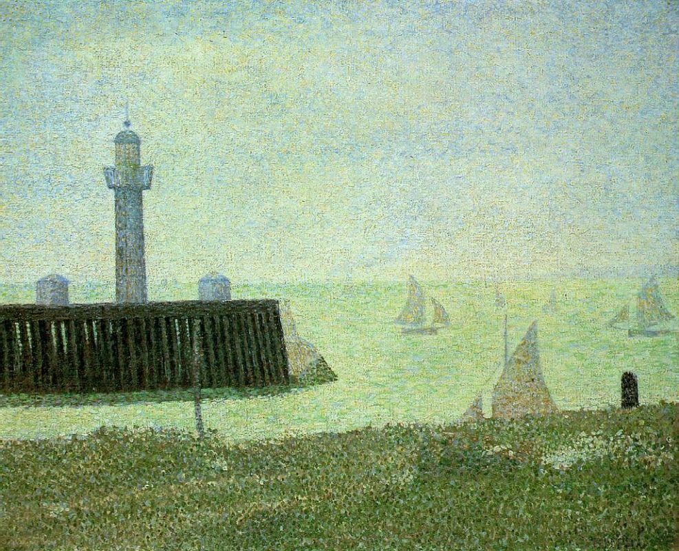 Жорж-Пьер Сёра. Конец причала, Онфлер. 1886