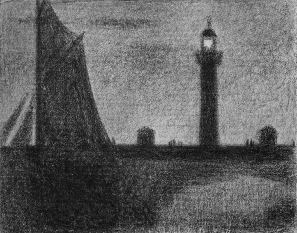 Жорж-Пьер Сёра. Маяк в Онфлере. 1886