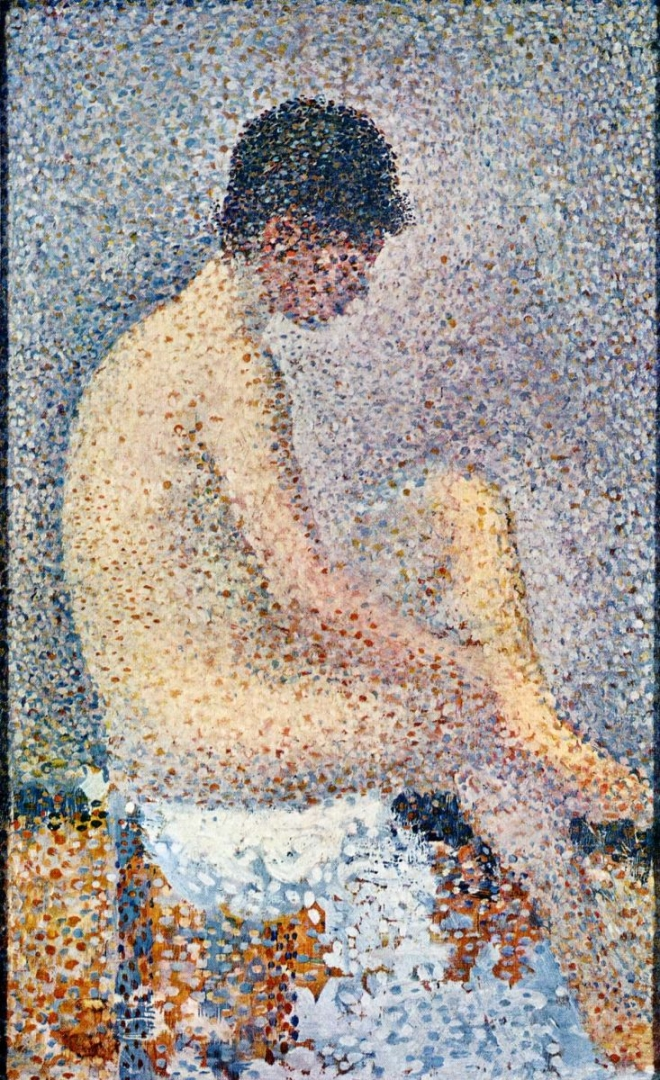 Жорж-Пьер Сёра. Сидящая обнаженная брюнетка. 1886