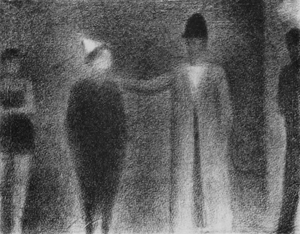 Жорж-Пьер Сёра. Клоун и три фигуры. 1887