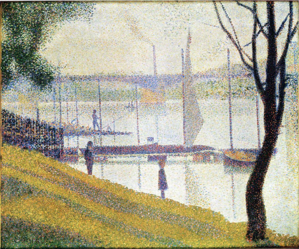 Жорж-Пьер Сёра. Мост в Курбевуа. 1887