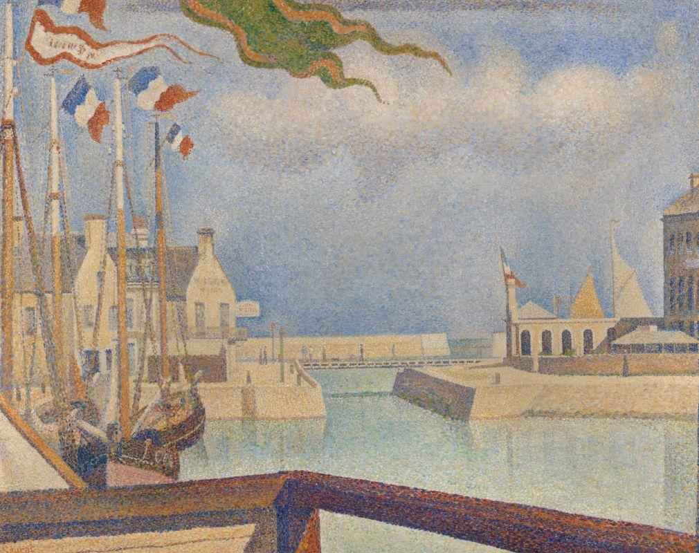 Жорж-Пьер Сёра. Воскресенье в Пор-ан-Бессен. 1888