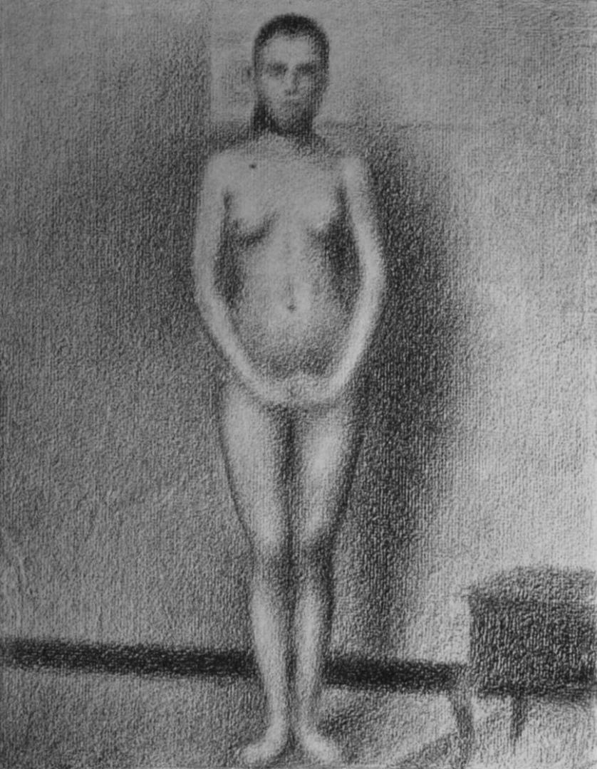 Жорж-Пьер Сёра. Стоящая модель. 1887