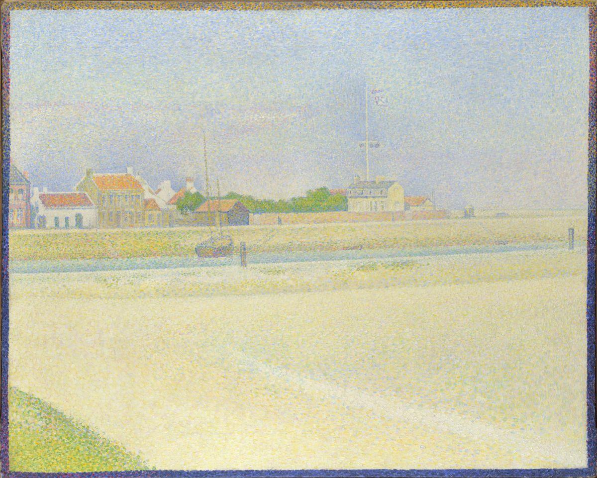 Жорж-Пьер Сёра. Канал в Гравлине, Большой Форт-Филипп. 1888