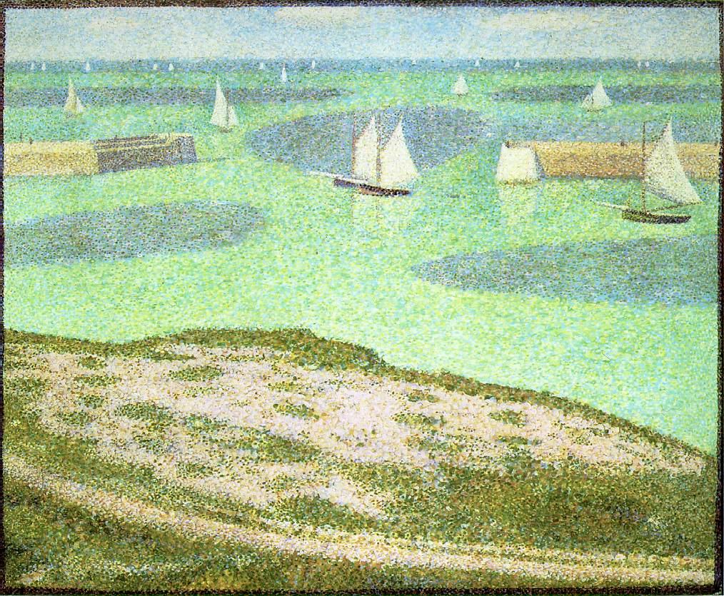 Жорж-Пьер Сёра. Порт-ан-Бессин — вход в гавань. 1888