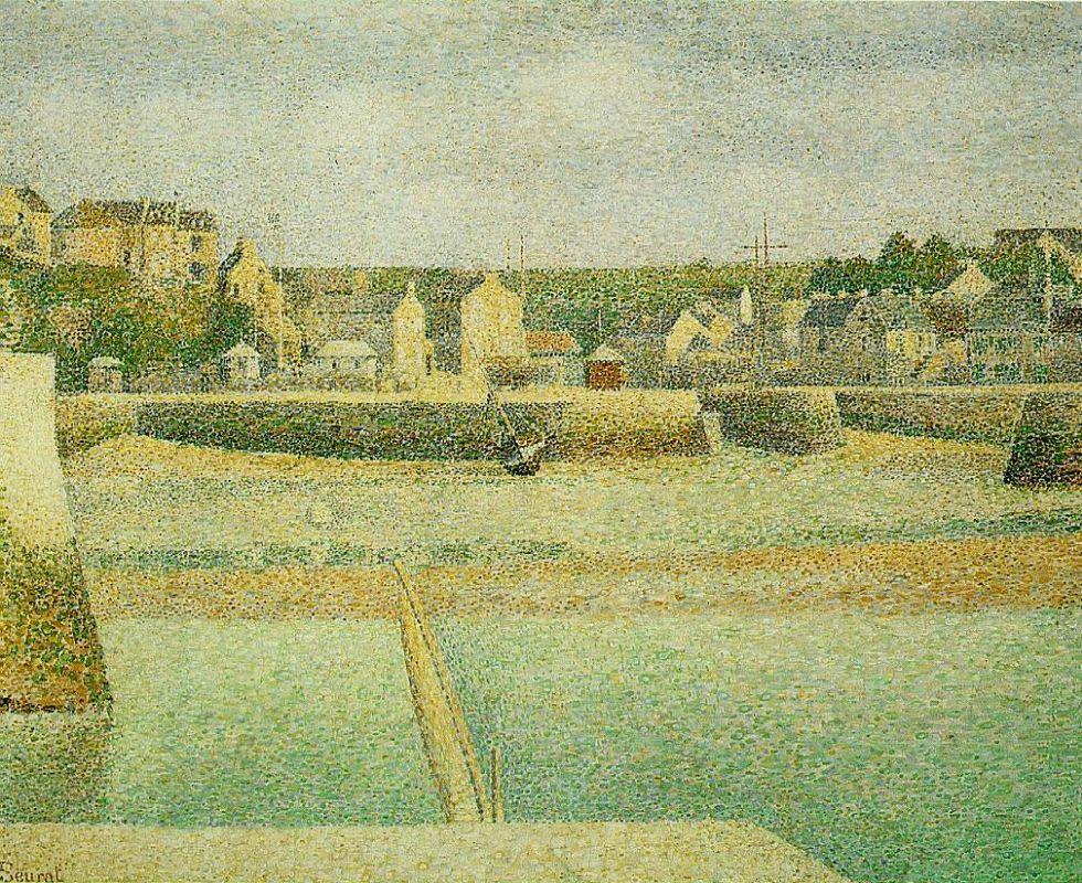 Жорж-Пьер Сёра. Порт-ан-Бессин — внешняя гавань во время отлива. 1888