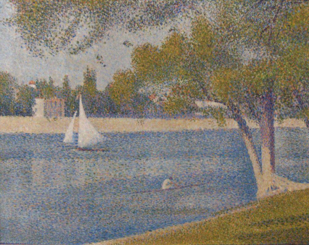 Жорж-Пьер Сёра. Сена на острове Гранд-Жатт. 1888