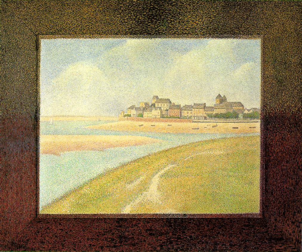 Жорж-Пьер Сёра. Вид Кротуа. 1889