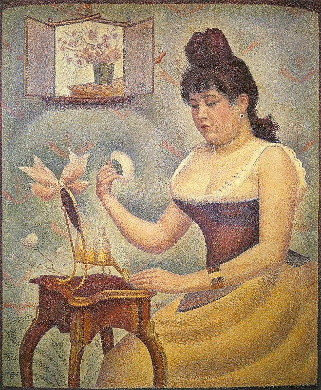 Жорж-Пьер Сёра. Пудрящаяся девушка. 1890