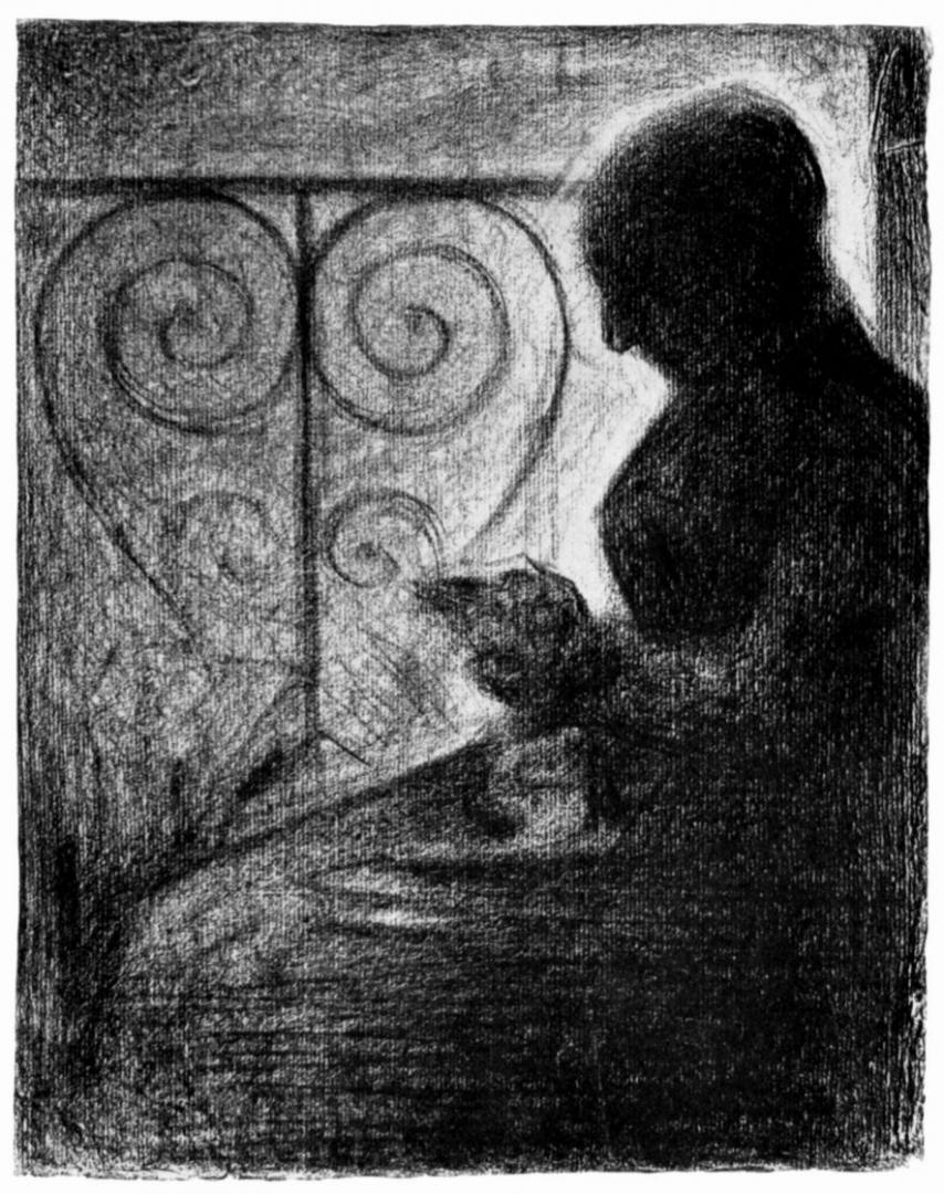 Жорж-Пьер Сёра. У балконной решетки