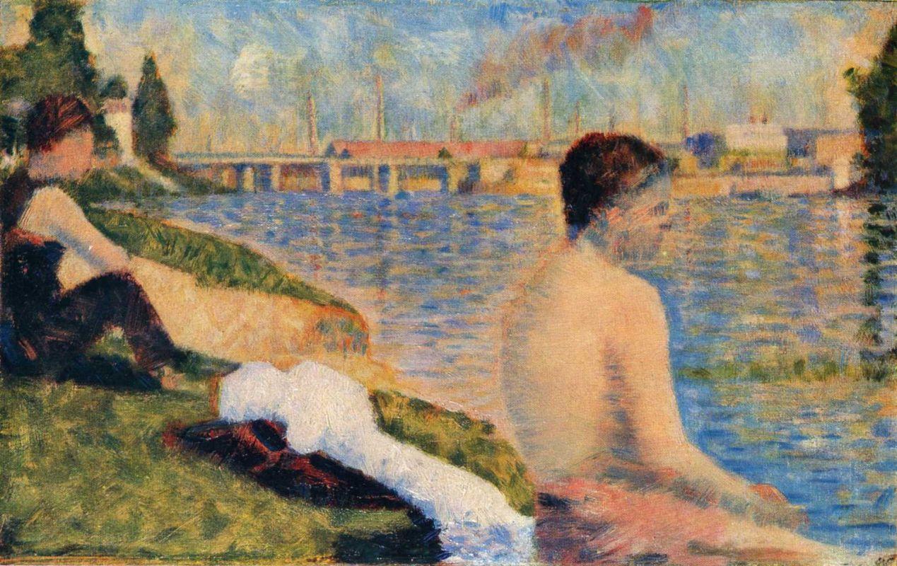 Жорж-Пьер Сёра. Сидящий купальщик. 1883