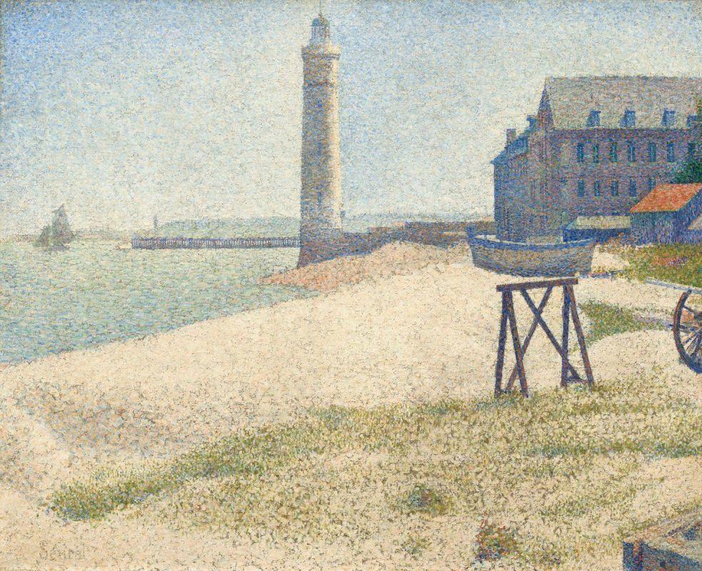 Жорж-Пьер Сёра. Приют и маяк Онфлёра. 1886