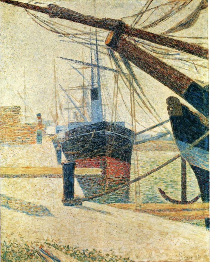 Жорж-Пьер Сёра. В гавани. 1886