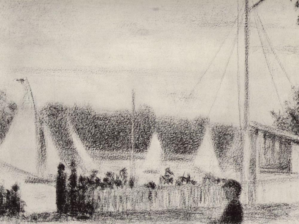 Жорж-Пьер Сёра. Регата. 1885