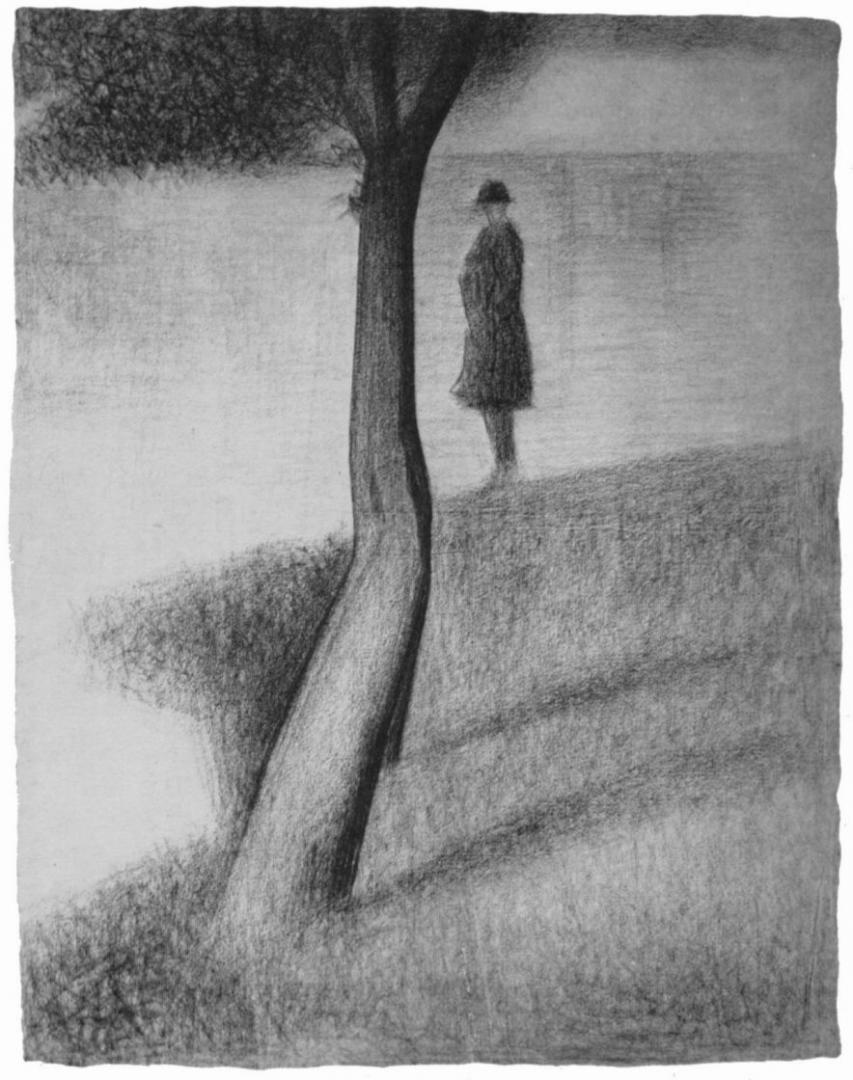 Жорж-Пьер Сёра. Мужчина возле дерева . 1885