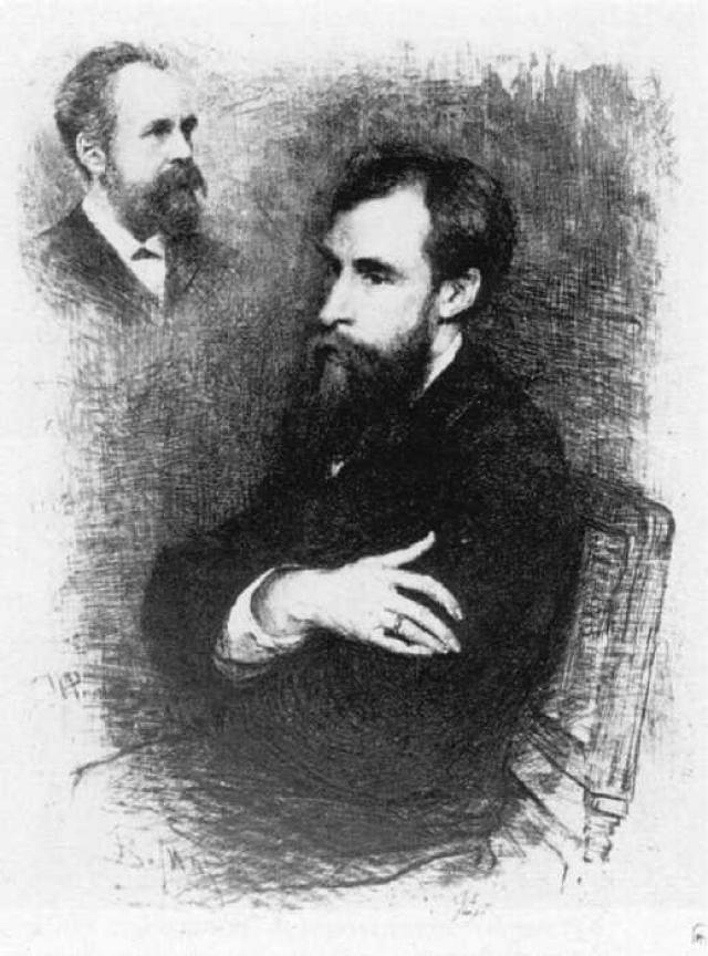 Василий Васильевич Матэ. Портрет П. М. Третьякова, офорт с портрета И. Е. Репина. 1894