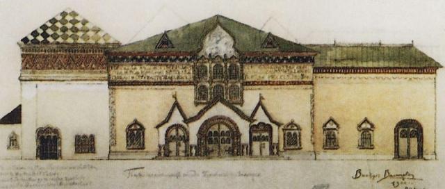 Проект фасада Третьяковской галереи В. М. Васнецова, 1900 г