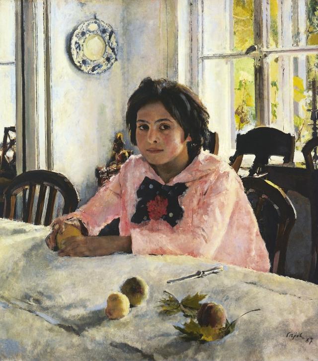 Валентин Серов. Девочка с персиками (Портрет В.С. Мамонтовой). 1887