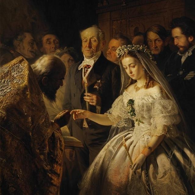 Василий Пукирев. Неравный брак. 1862