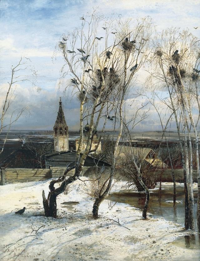 Алексей Саврасов. Грачи прилетели. 1871