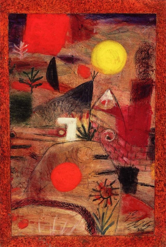 Пауль Клее. Церемонии и закат солнца 1920
