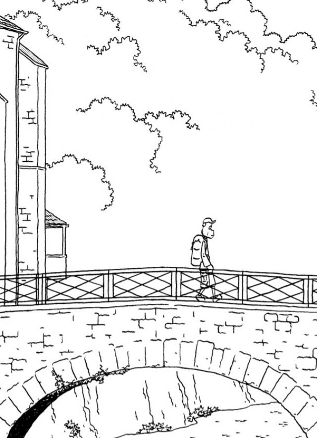 Фрагмент комикса «На пути в Компостелу» норвежского художника Джейсона