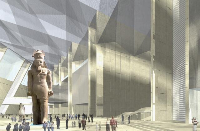 «Ворота фараонов» из северного Каира перевезли в Гизу