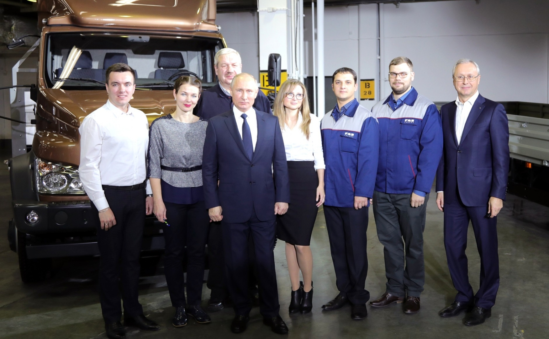 Владимир Путин на Горьковском автозаводе