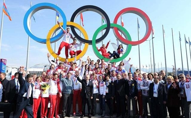 Встреча Владимира Путина с чемпионами и призёрами XXII Олимпийских зимних игр 2014 года. 2014 г